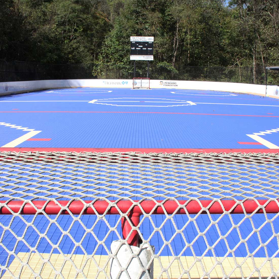 Hockey rink at Settlers Cabin