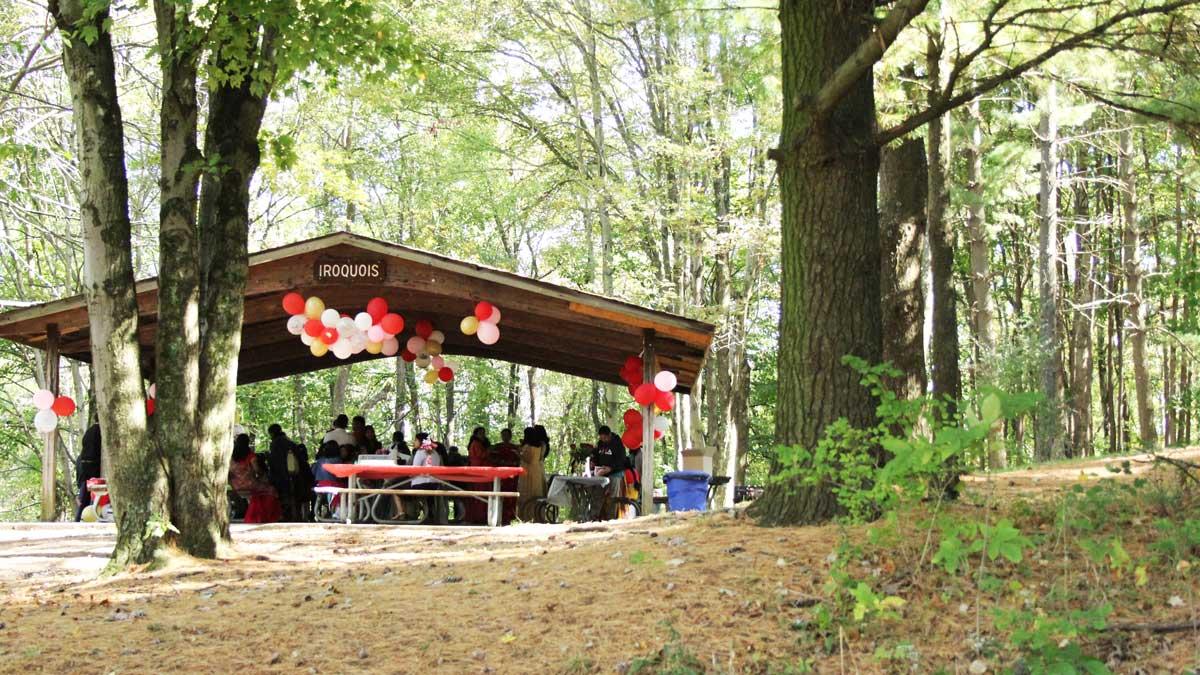 Settlers Cabin pavilion