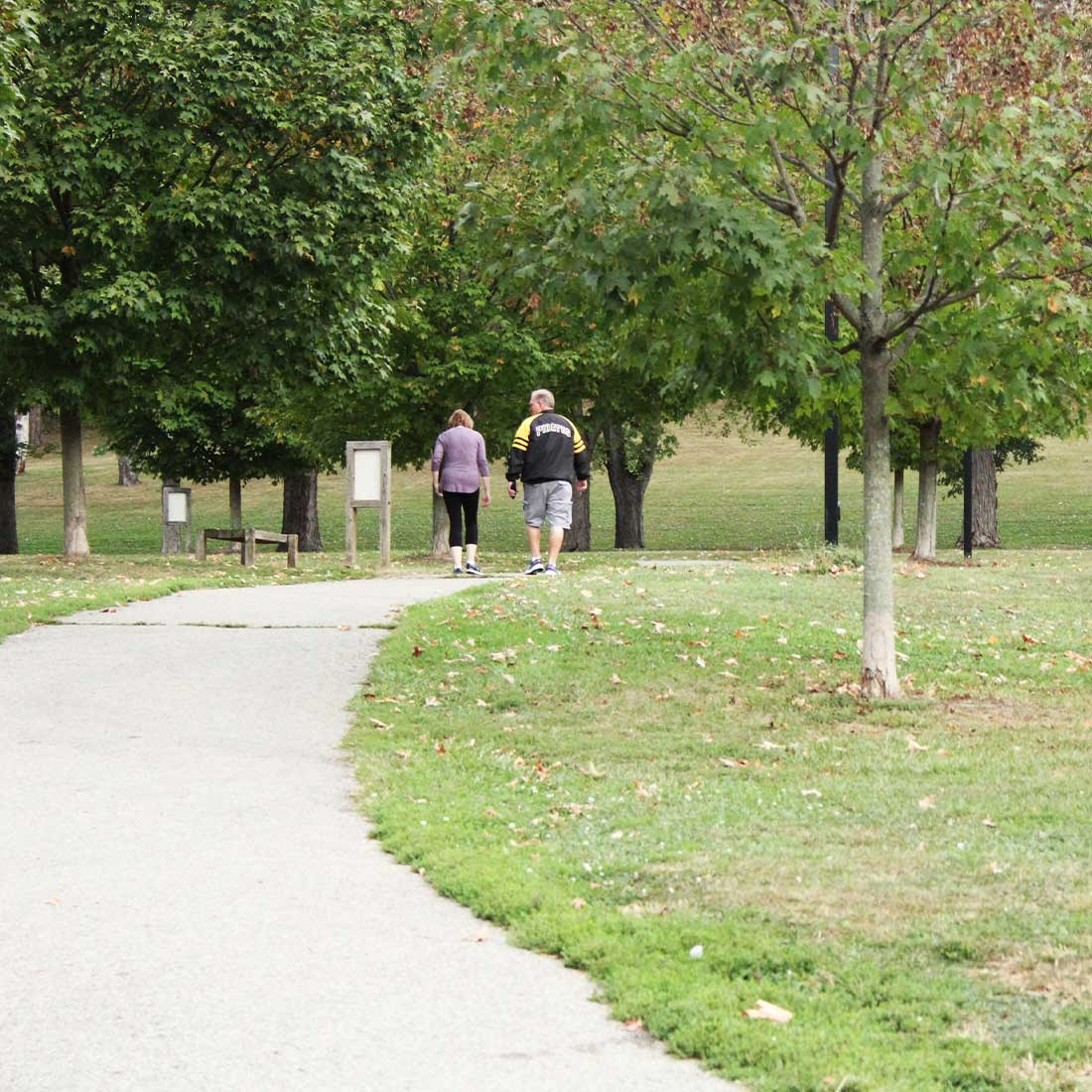 People walking for recreation at South Park