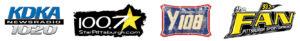 Radio station sponsors: KDKA, 100.7 StarPittsburgh, Y108, 93.7 The Fan