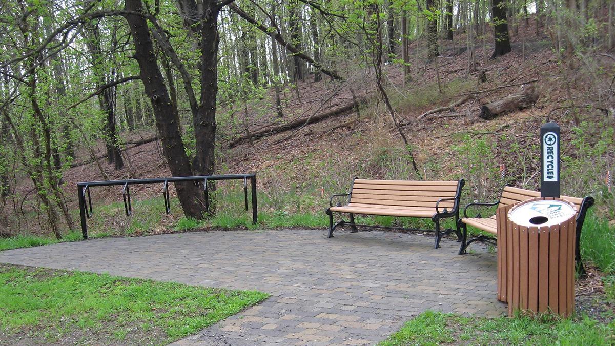 Montour Connector Trail Bench